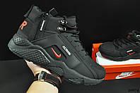 Кроссовки мужские зимние черные реплика Nike Air Huarache код 20674, фото 1