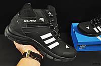 Кроссовки мужские зимние черные с белым реплика Adidas Climaproof код 20673, фото 1