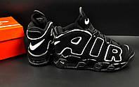 Кроссовки мужские черные в стиле Nike Air More Uptempo код 20616, фото 1