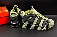 Кроссовки мужские хаки в стиле Nike Air More Uptempo код 20615, фото 1
