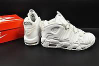 Кроссовки мужские белые Nike Air More Uptempo арт 20614, фото 1