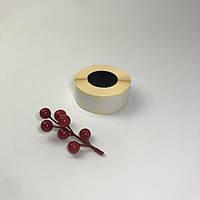 Наклейки круглые, 30 мм, белые (1000 шт.)