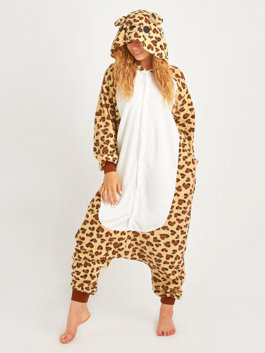 Пижама кигуруми Леопард S (150-160см)