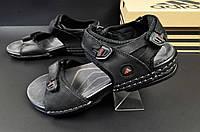 Сандалии мужские черные Adidas кожаные 40 размер - 26 см код 20582, фото 1