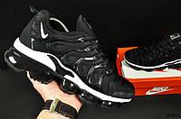 Кроссовки мужские черные в стиле NIKE AIR VAPORMAX Plus 44 размер (28,5 см) код 20553, фото 1