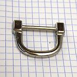 Ручкодержатель верхний никель для сумок t4396 (4 шт.), фото 2