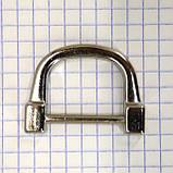 Ручкодержатель верхний никель для сумок t4396 (4 шт.), фото 3