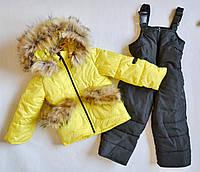 Детский зимний комбинезон для девочек 1-3 года, зимние комбинезоны детские, фото 1