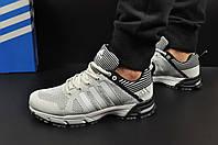 Кроссовки мужские светло-серые в стиле ADIDAS Fast Marathon 46 размер (стелька 29,3 см) код 20483, фото 1
