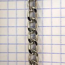 Цепь металлическая никель для сумок a6087