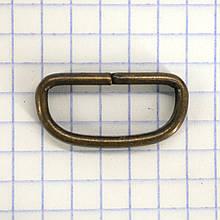 Шлевка металлическая 20 мм антик для ремней t4355 (40 шт.)