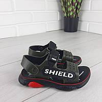 Босоножки детские, сандалии спортивные черные. Размеры 26-31. код 162445, фото 1