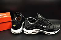 Кроссовки мужские в стиле  NIKE Air Max Tn черные 44 размер (стелька 28,2 см) код 20410, фото 1