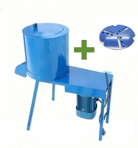 Кормоизмельчитель (бурякорезка) Bizon 1.1 кВт + Диск для лущения кукурузы