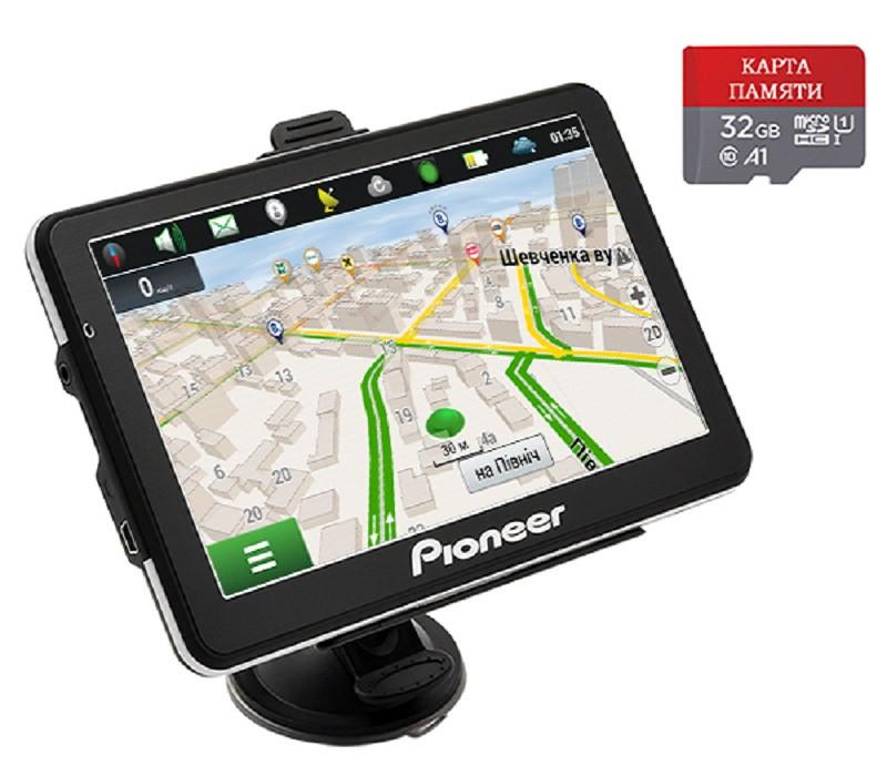 Автомобильный GPS-навигатор Pioneer Pi7215 TRUCK + КАРТА ПАМЯТИ 32GB (