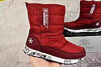 Ботинки женские зимние Situo бордовые 36 размер - 23 см код 20320, фото 1