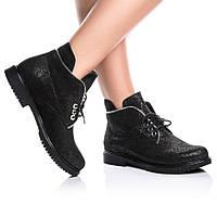 Ботинки Rivadi 2139 36(24см) Черная замша блеск, фото 1