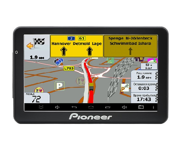 Автомобильный GPS-навигатор Pioneer Pi-718 Truck с картой Европы и Укр
