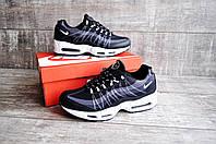 Мужские кроссовки в стиле NIKE Air Max 95 черно-белые 44 размер (стелька 28,5 см) код 20215, фото 1