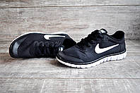 Кроссовки мужские в стиле NIKE Free Run 3.0  черные с белым 42 размер (стелька 26,5 см)  код 10143, фото 1
