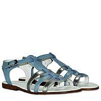Сандали La Rose 2003 36(23,5 см) голубая кожа, фото 1