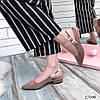 Мюли Jador капучино замшевые каблук 3 см  код 27016