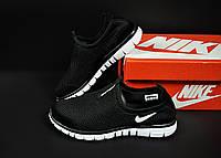 Кроссовки черные женские в стиле N*ke Free 3.0 сетка без шнуровки арт 20817, фото 1