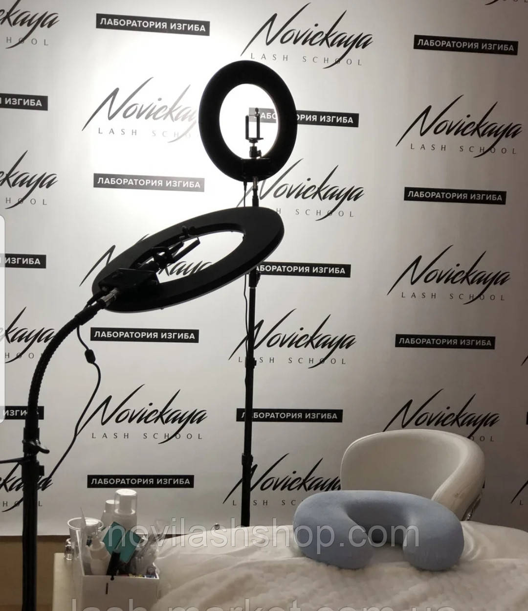 Кольцевая лампа RL-2 (напольная) для косметологии, наращивания ресниц (без регулировки) BeautyLight