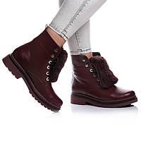 Ботинки Rivadi 2151 36(23,4см) Бордовая кожа, фото 1