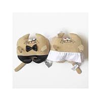 Дизайнерская игрушка Коты свадебные