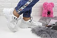 Женские белые кроссовки на высокой подошве Bryli 1150, фото 1