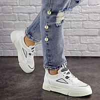 Женские белые стильные кроссовки Dusty 1616, фото 1