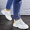 Женские белые демисезонные кроссовки 1749