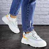 Женские белые демисезонные кроссовки 1749, фото 1