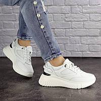 Женские белые кроссовки демисезонные 1633, фото 1