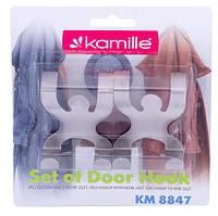 Набор крючков на дверь из нержавеющей стали 4,6*4,6*5 см Kamille KM-8847