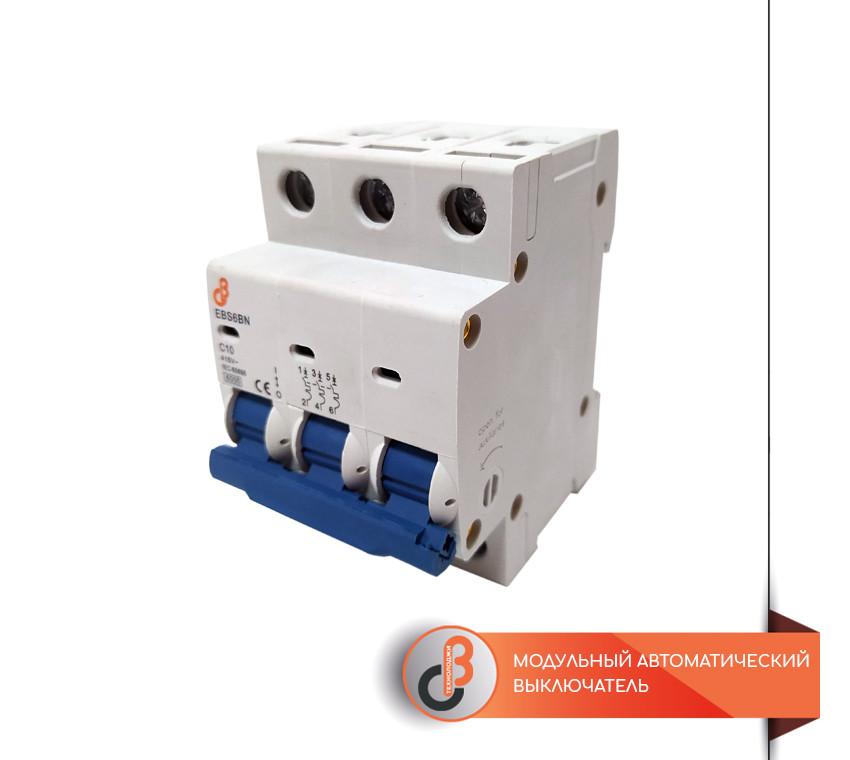 Модульный автоматический выключатель EBS6N-6-3-4
