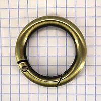 Кольцо карабин 25*6 мм антик для сумок a5667 (4 шт.)