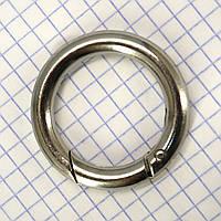 Кольцо карабин 28*6 мм никель для сумок t5200 (4 шт.)