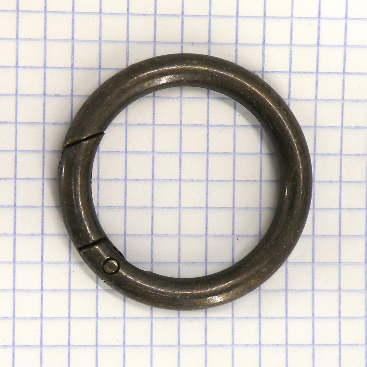 Кольцо-карабин 34*6 мм антик для сумок t5199 (2 шт.)