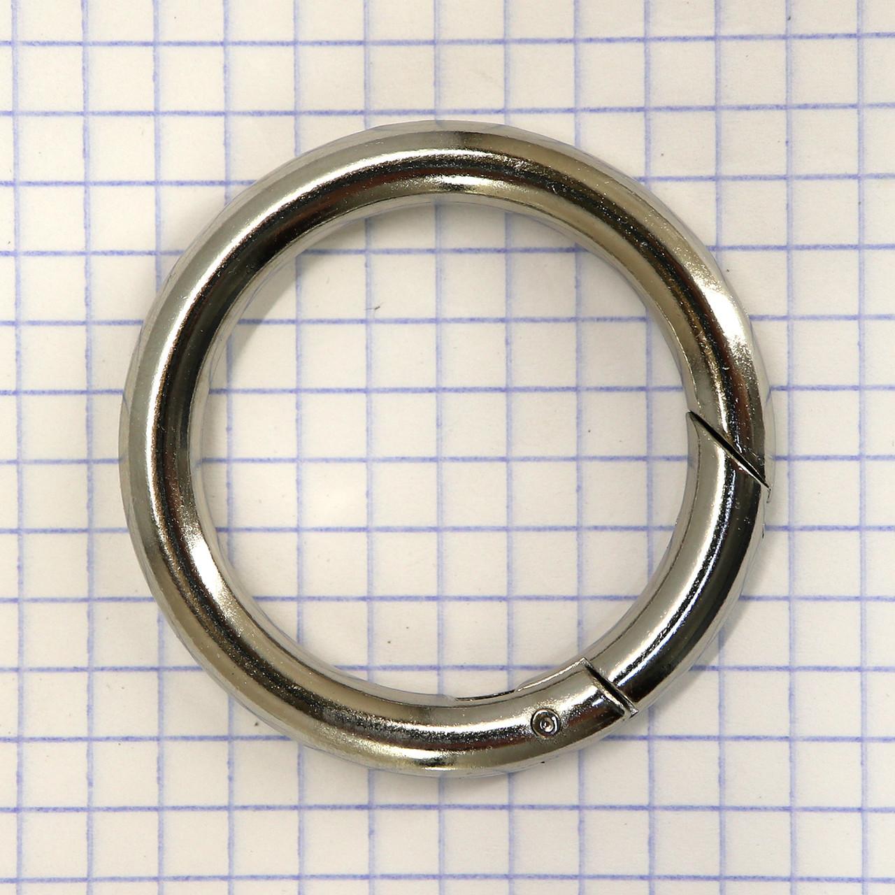 Кольцо карабин 34*6 мм никель для сумок t5199 (2 шт.)