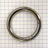Кольцо карабин 34*6 мм никель для сумок t5199 (4 шт.)