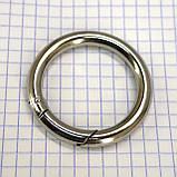 Кольцо карабин 34*6 мм никель для сумок t5199 (2 шт.), фото 2