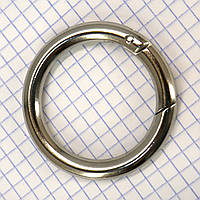 Кольцо карабин 39*6,5 мм никель для сумок t5198 (4 шт.)