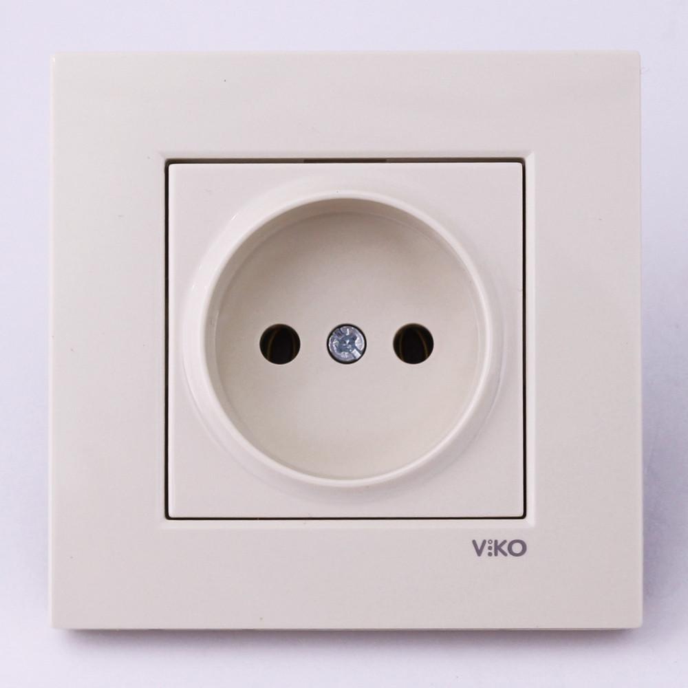 Розетка електрична VI-KO Karre прихованої установки одинарна без заземлення (кремова)