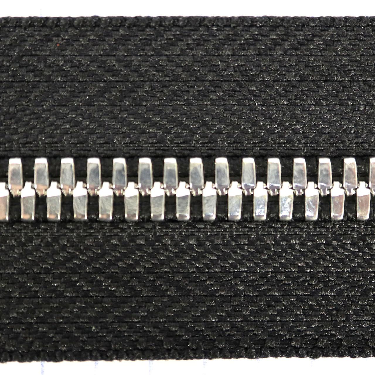 Молния металлическая тип 5 Италия двухстороння черная зуб никель