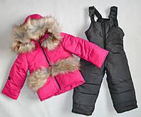 Детский зимний комбинезон на девочку 1 2 3 года, зимние комбинезоны детские, фото 1