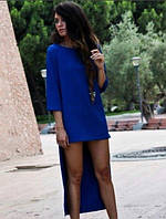 Женское Длинное сзади Платье ПОШИВ на заказ Р.40-54 *Разные Цвета*