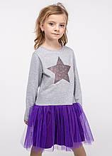 Платье для девочек - G-20853W_серый (размер 134)