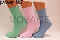 Детские носки высокие стрейчевые гладкие Стиль 7 яркие ассорти